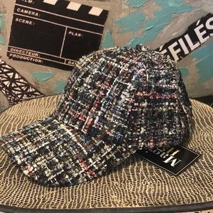 Accessories - NWT Boucle Sparkle Tweed Chanel Cap Baseball Hat